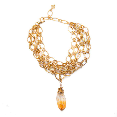 'adriana' bracelet with citrine