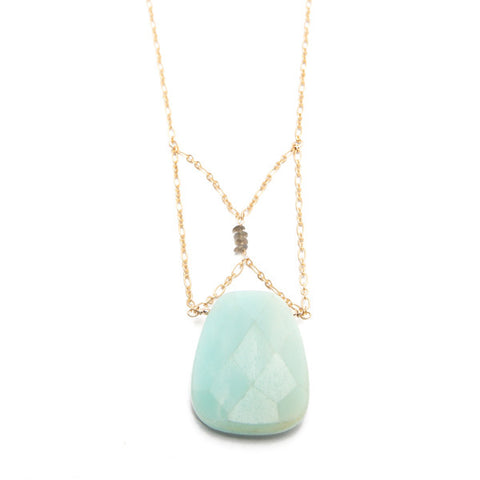 'christine' necklace with amazonite