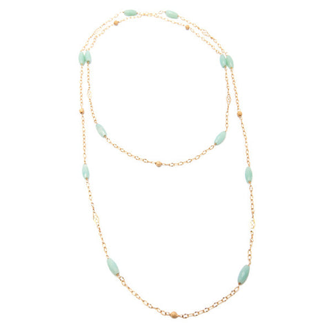 'dew drop' necklace with amazonite