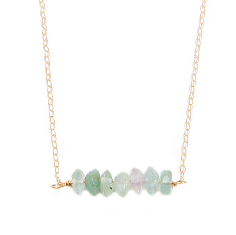 'kara' necklace with aquamarine