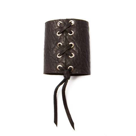 'jayne' leather corset cuff - black