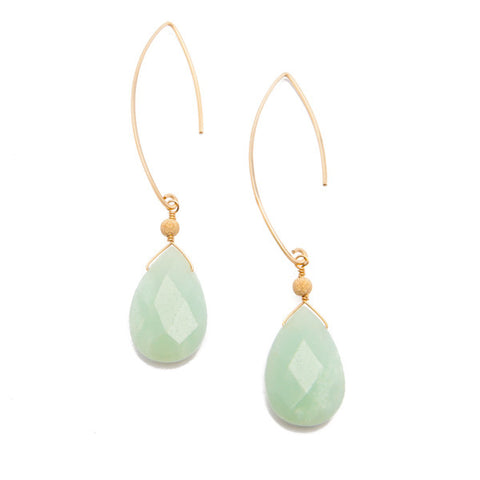 'featherweight' earrings with amazonite