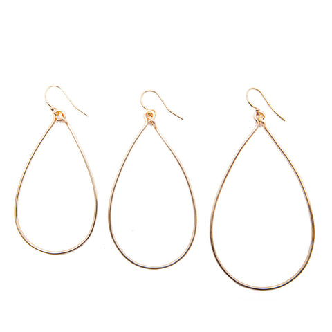 teardrop hoops - medium