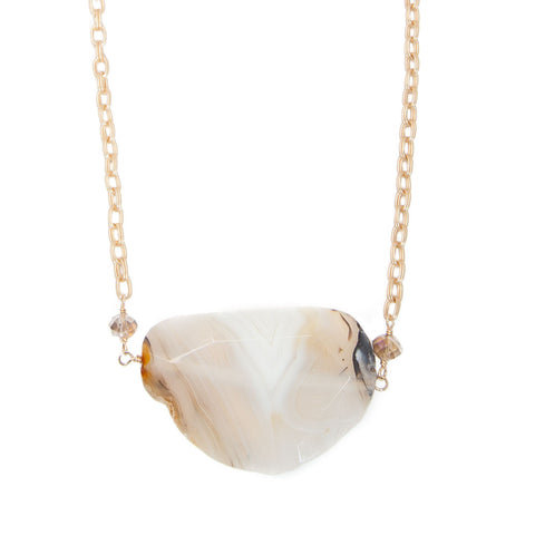 'julia' necklace with crazy lace agate