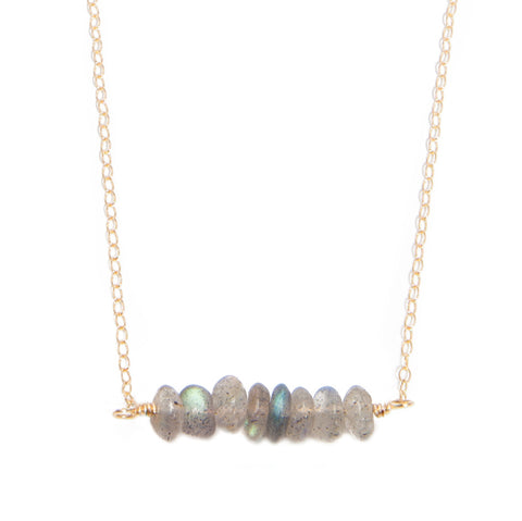 'kara' necklace with labradorite