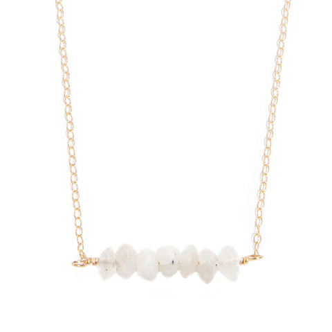 'kara' necklace with moonstone