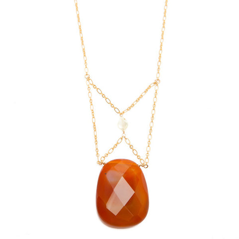 'christine' necklace with sardonyx