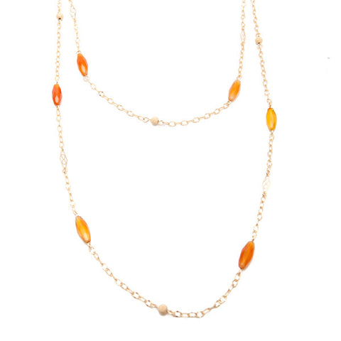 'dew drop' necklace with sardonyx