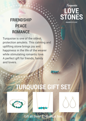 'love stone' gift set with turquoise - $79