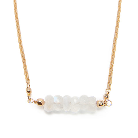 'tara' necklace with moonstone