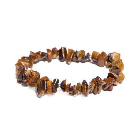 tigers eye chip bracelet