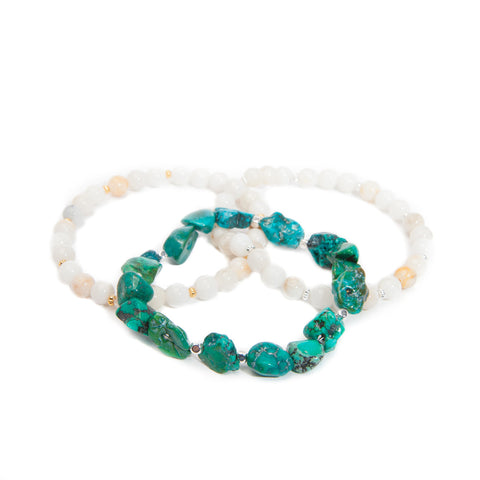 'love stone' bracelet set with turquoise