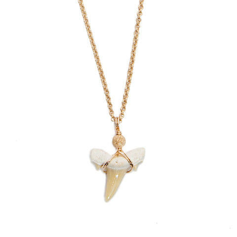 'kai' sharks tooth necklace - white