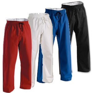 Elastic Waist Martial Arts Pants (100% 8oz cotton)