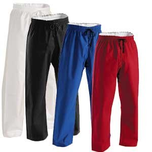 Super Middleweight Martial Arts pants w elastic waist (10oz brushed cotton)