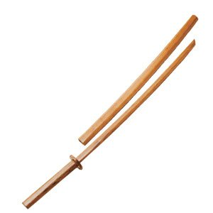 WOODEN BOKKEN WITH SCABBARD