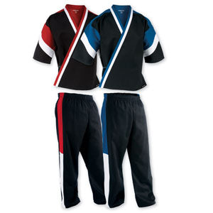 Traditional Tricolour Team Martial Arts Uniform (7oz)