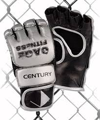 Cage Fitness Gloves Silver/Black