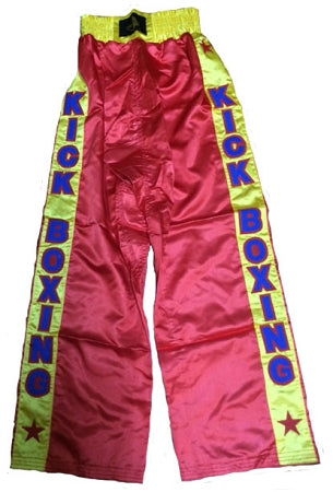 Kick Boxing Long Pants - RED (Small Only)