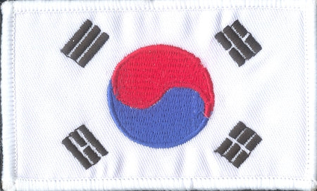 Korean Flag Badge