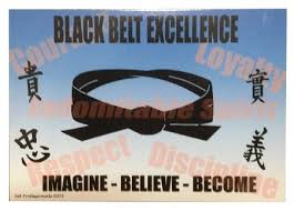 Black Belt Excellence Postcards