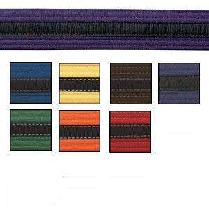 Coloured Martial Arts Belt with Black Stripe