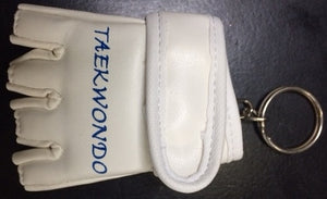 TAEKWONDO WHITE MMA GLOVE KEY RING