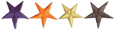 Coloured Star Martial Arts Badges