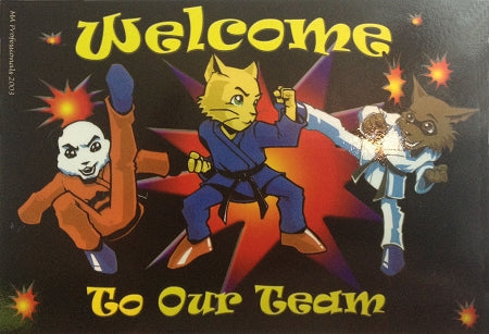 WELCOME TO OUR TEAM POSTCARDS - CATS