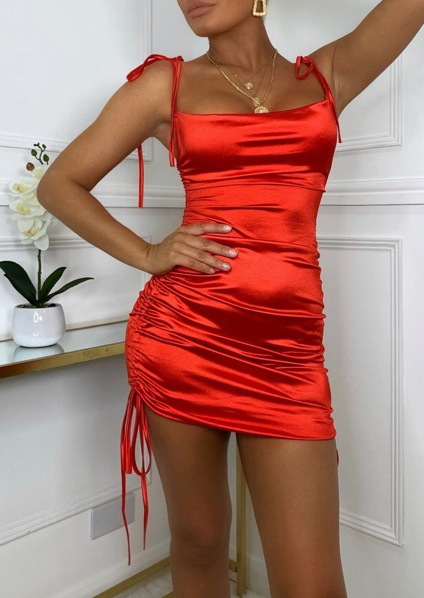 Dangerous Love Satin Dress - ROSAII