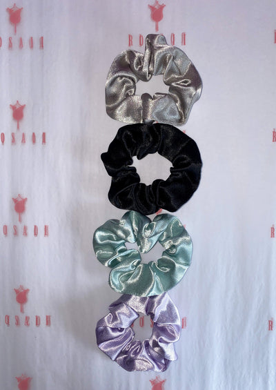 Pastel Satin Scrunchies - 4 pcs - ROSAII