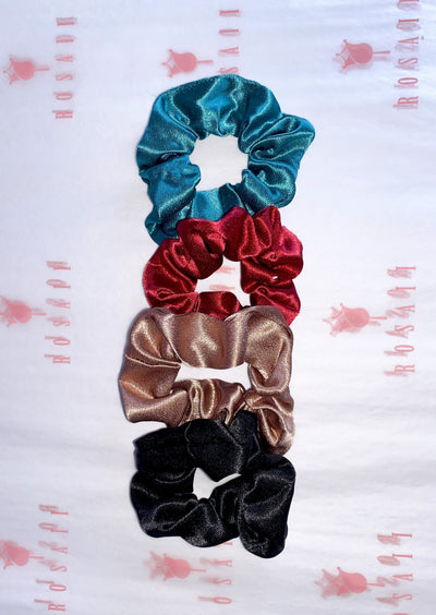 Holiday Satin Scrunchies 4pcs - ROSAII