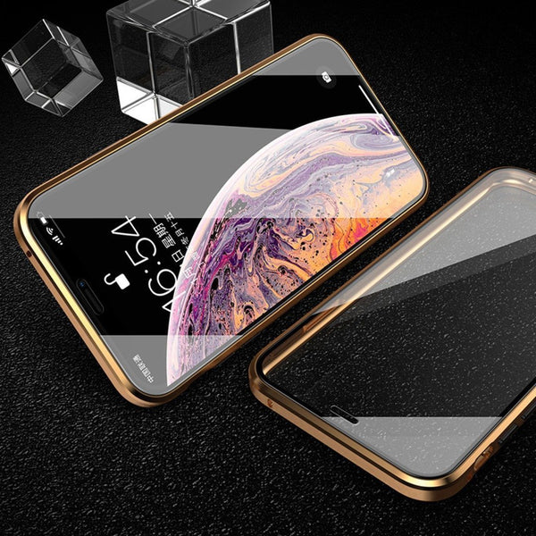 iPhone 11 Pro Max Electronic Auto-Fit (Front+ Back) Glass Magnetic Case