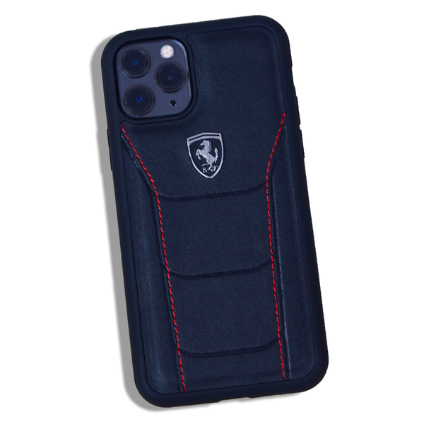 MK ® iPhone 11 Pro Max Ferrari Genuine Leather Crafted Limited Edition Case