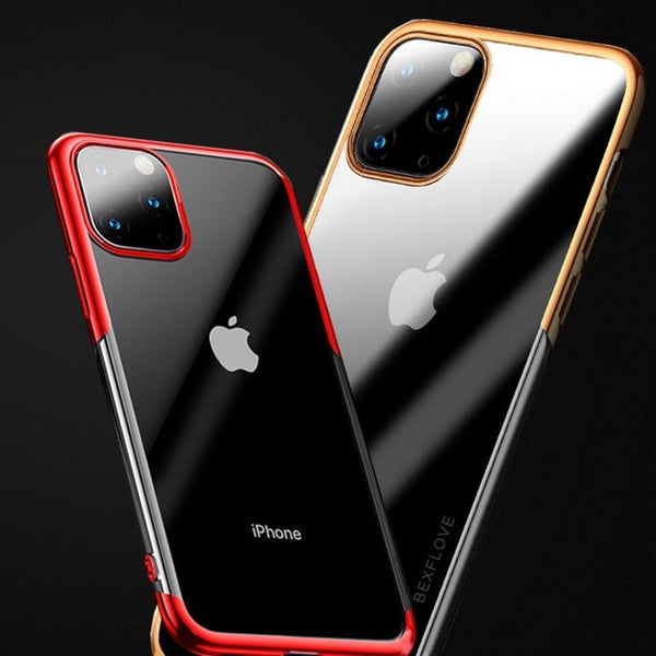 iPhone 11 Pro Max Electroplating Silicone Transparent Glitter Case