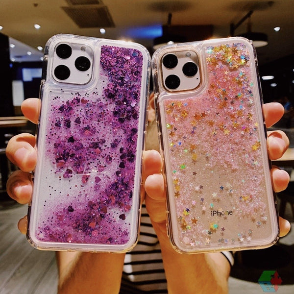 iPhone 11 Pro Max Liquid Glitter Sparkle Shiny Bling Case