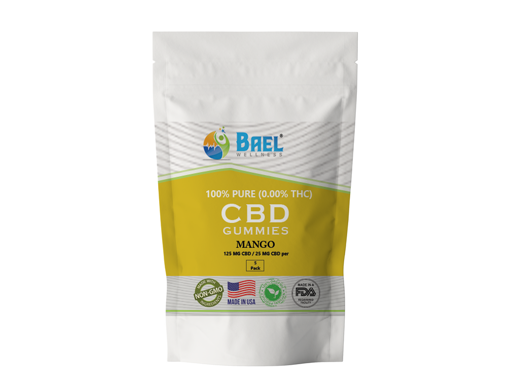 Bael Wellness CBD Gummies Mango - 5 Pack, 25 mg Each