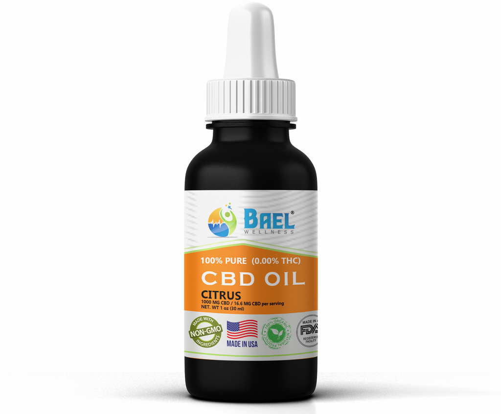 Bael Wellness CBD Oil (Tincture) Citrus - 1000 mg, 30 ml