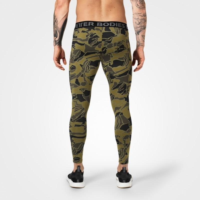 Better Bodies Astor Tights - Green Print
