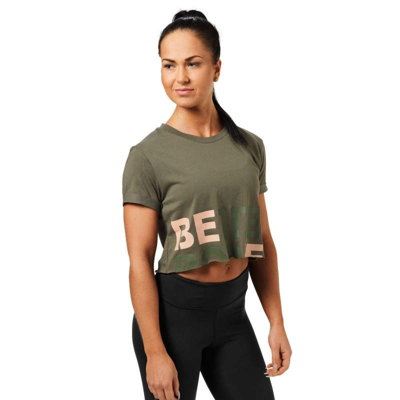 Better Bodies Astoria Cropped Tee - Wash Green