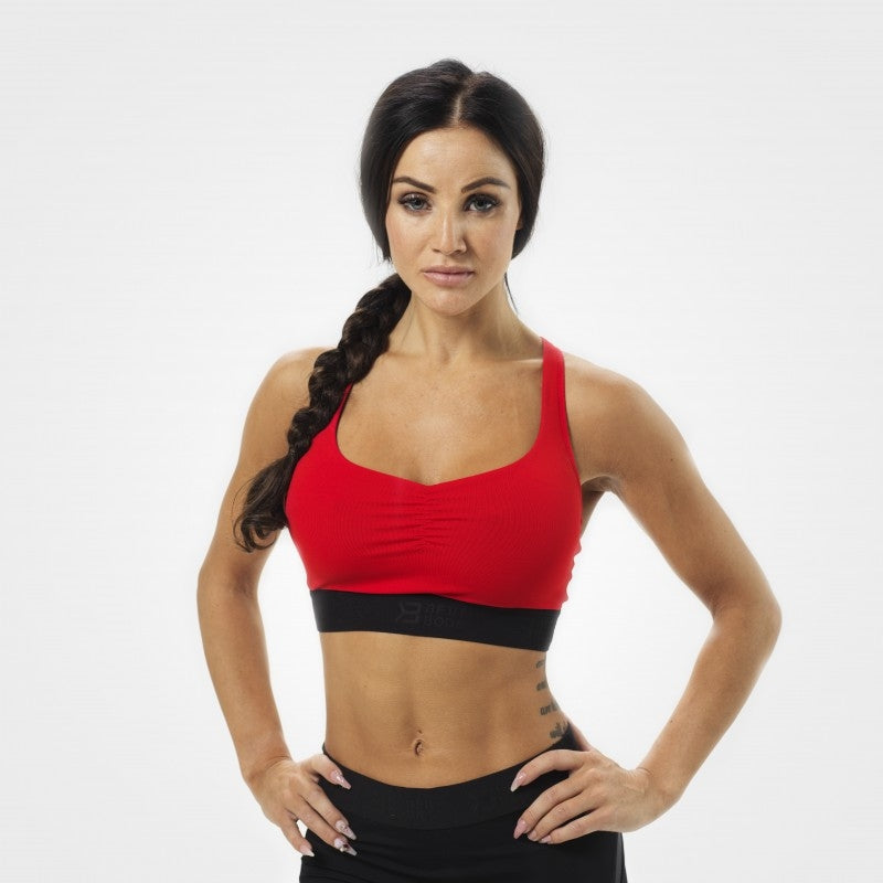 Better Bodies Athlete Short Top - Scarlet Red