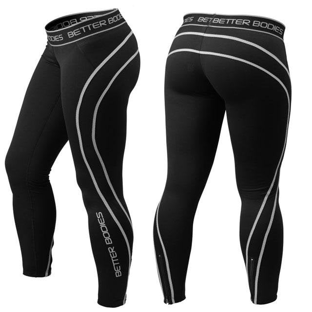 Better Bodies Athlete Tights - Black-Grey - Urban Gym Wear