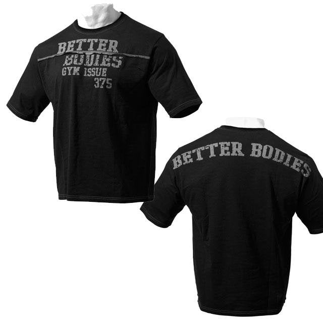 Better Bodies Big Size Tee - Black - Urban Gym Wear