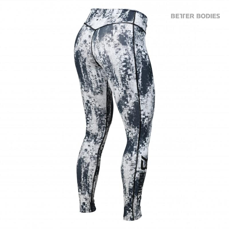 Better Bodies Bowery Tights - Black-White - Urban Gym Wear