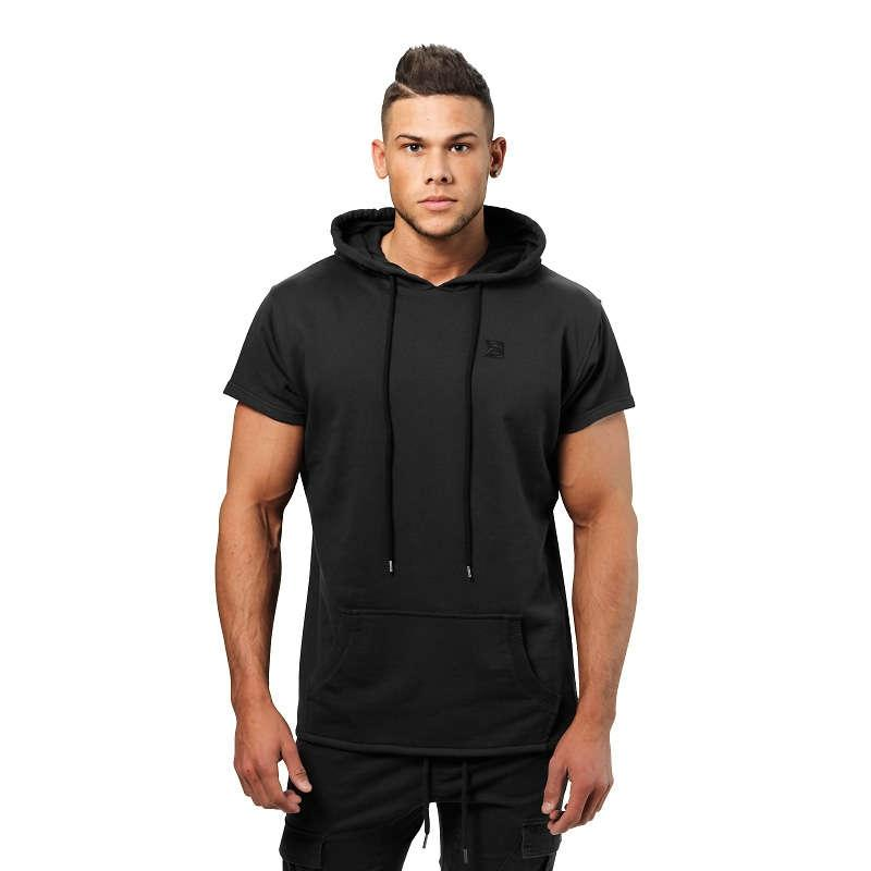 Better Bodies Bronx T-Shirt Hoodie - Black - Urban Gym Wear