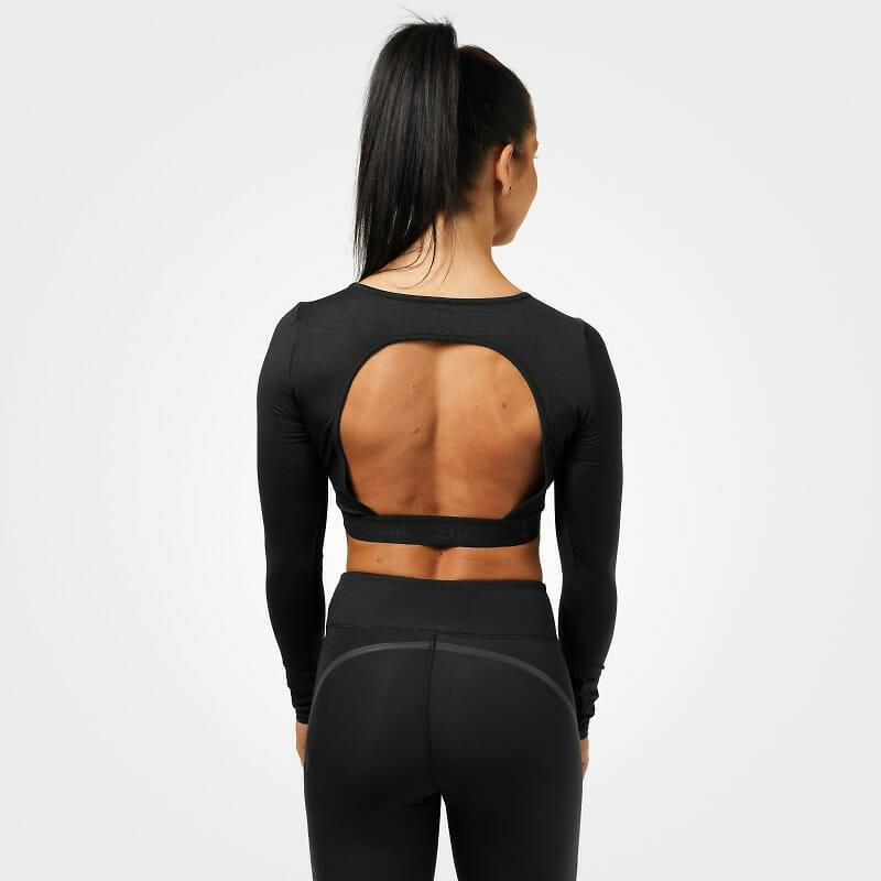 Better Bodies Chelsea Cropped L-S - Black - Urban Gym Wear