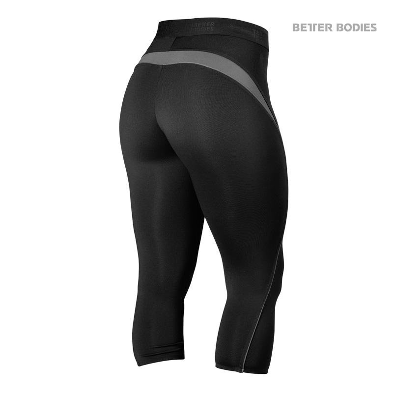 Better Bodies Fitness Curve Capri - Black - Urban Gym Wear