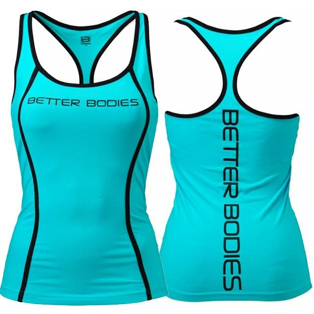 Better Bodies Fitness Shaped T-Back - Aqua Blue - Urban Gym Wear