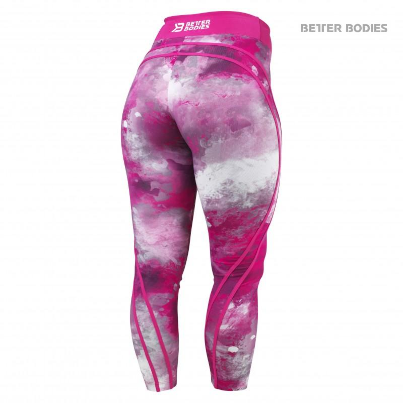 Better Bodies Galaxy High Waist Tights - Hot Pink - Urban Gym Wear
