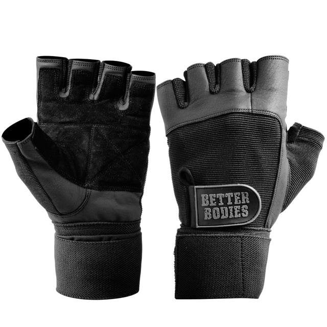 Better Bodies Gym Wrist Wrap Gloves - Black - Urban Gym Wear
